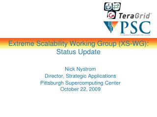 Extreme Scalability Working Group (XS-WG): Status Update