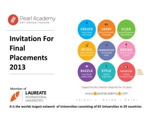 Invitation For Final Placements 2013