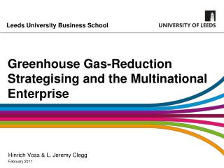 Greenhouse Gas-Reduction Strategising and the Multinational Enterprise