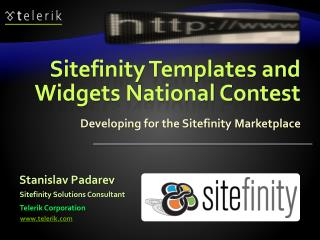 Sitefinity Templates and Widgets National Contest