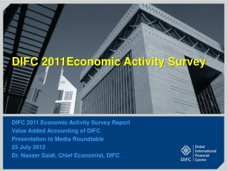 DIFC  2011Economic  Activity Survey
