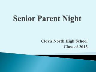 Senior Parent Night