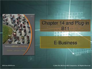Chapter 14 and Plug-in B11