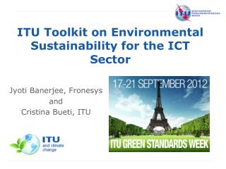 ITU Toolkit on Environmental Sustainability for the ICT Sector