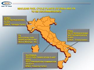 NUCLEAR FUEL CYCLE PLANTS OF ENEA AND FN TO BE DECOMMISSIONED
