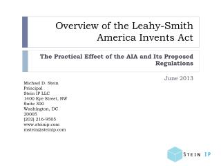 Overview of the Leahy-Smith America Invents Act