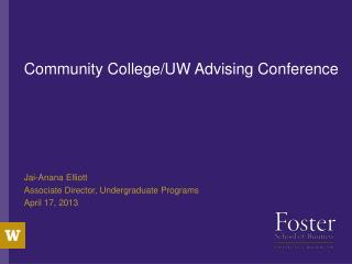 Community College/UW Advising Conference