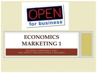 Economics Marketing 1