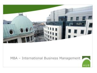 MBA – International Business Management