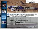 University Program Assessment