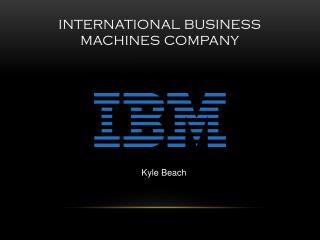 International business machines company