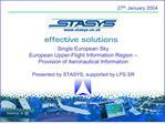 Single European Sky European Upper-Flight Information Region    Provision of Aeronautical Information