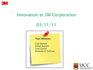 Innovation at 3M Corporation 03/11/11