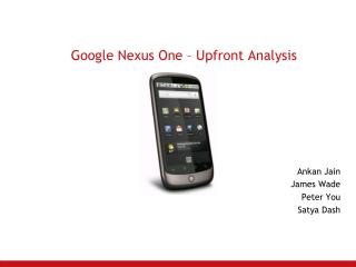 Google Nexus One – Upfront Analysis