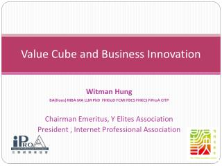 Value Cube and Business Innovation