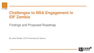 Challenges to NSA Engagement in EIF Zambia Findings and Proposed Roadmap