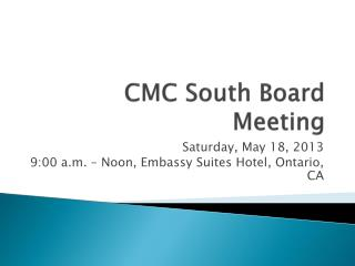 CMC South Board Meeting