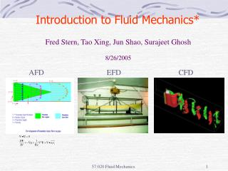 Introduction to Fluid Mechanics*