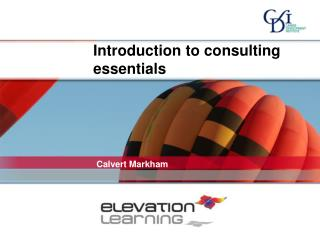 Introduction to consulting essentials