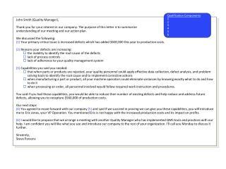 Potential Sponsor Letter / e-mail: Example