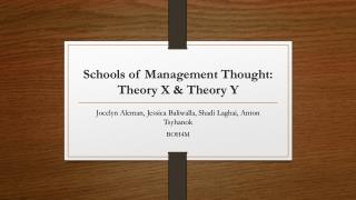 Schools of Management Thought: Theory X & Theory Y