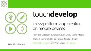 touch develop cross-platform app creation  on  mobile devices