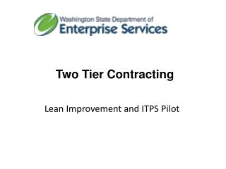 Two Tier Contracting