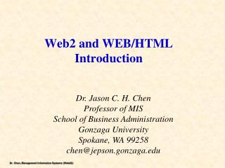 Web2 and  WEB/ HTML Introduction