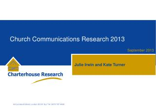 Church Communications Research 2013