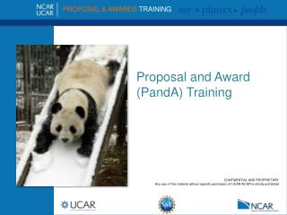 Proposal and Award ( PandA ) Training