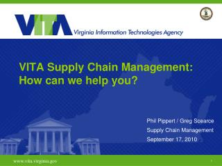 VITA Supply Chain Management: How can we help you?