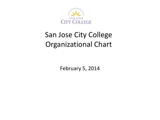 San Jose City College Organizational Chart