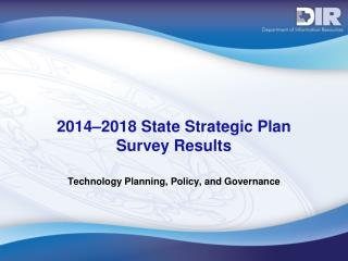 2014–2018 State Strategic Plan  Survey Results
