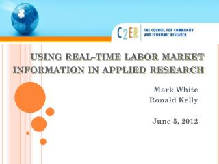 using real-time labor market information in applied research