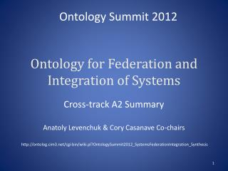 Ontology for Federation and Integration of Systems