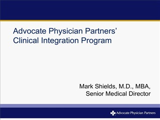 Advocate Physician Partners   Clinical Integration Program