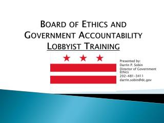 Board of Ethics and Government Accountability Lobbyist Training