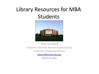 Library Resources for MBA Students