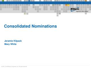 Consolidated Nominations