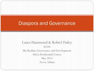 Diaspora and Governance