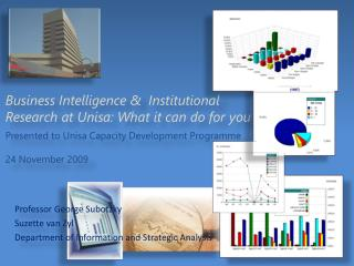 Business Intelligence &  Institutional Research at Unisa: What it can do for you Presented to  Unisa Capacity Developme