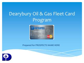 Dearybury Oil & Gas Fleet Card Program