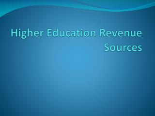 Higher Education Revenue Sources