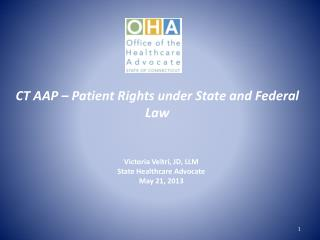 CT AAP – Patient Rights under State and Federal Law