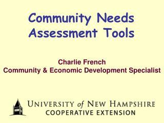 Community Needs Assessment Tools