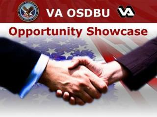 VA OSDBU Opportunity Showcase