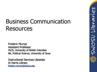 Business Communication Resources