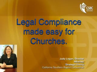 Legal Compliance made easy for Churches.