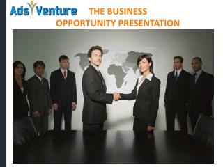 THE BUSINESS  OPPORTUNITY PRESENTATION