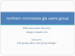 northern minnesota gis users group